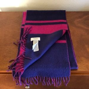 Coach cashmere and wool scarf